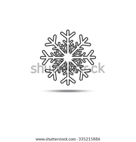 Snowflake Symbol Badge Black Color On Stock Photo Photo Vector