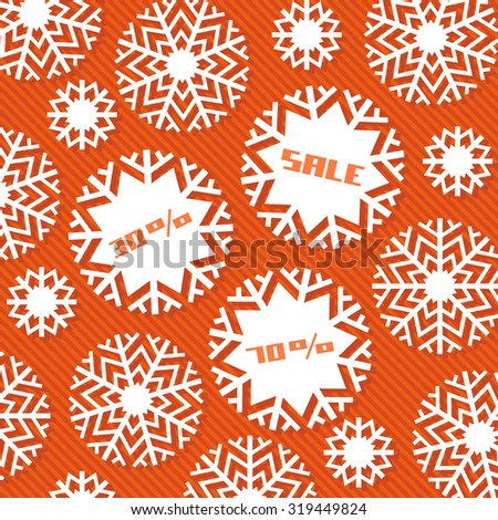 Snowflake tag - Christmas sale. Winter vintage background. Decorative illustration for print, web - stock vector