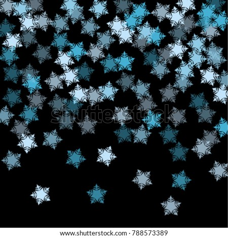 snowflake texture consists isolated elements black stock vector