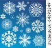 Snowflake vector christmas background. Design collection - stock photo