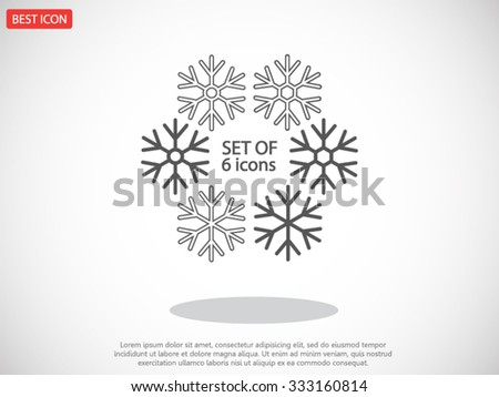 Snowflake  vector icon