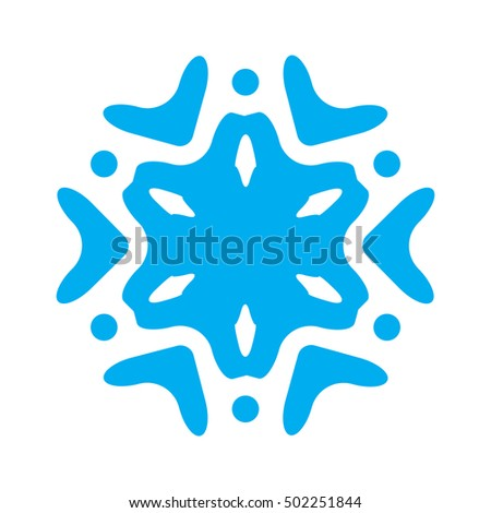 Snowflake vector icon isolated on white background. Snow element for winter design and decoration