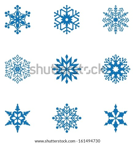 Snowflake.Vector Illustration - stock vector