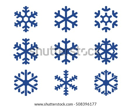 Free download of Simple Snowflake vector graphics and