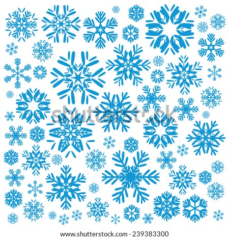 Snowflakes and Christmas background