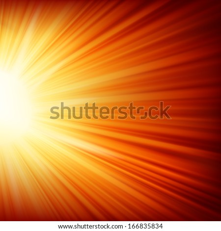 Snowflakes and stars descending on a path of golden light. EPS 10 vector file included - stock vector
