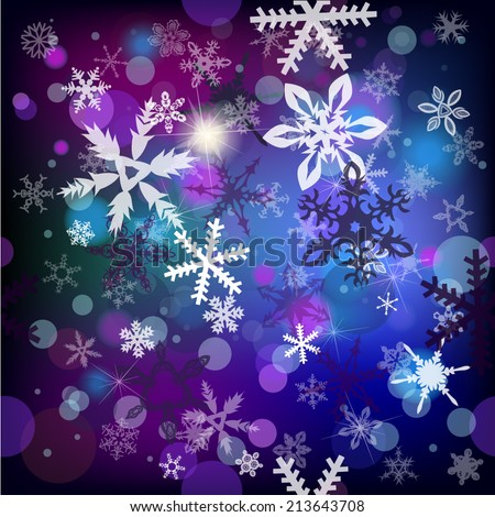snowflakes background . Vector  - stock vector