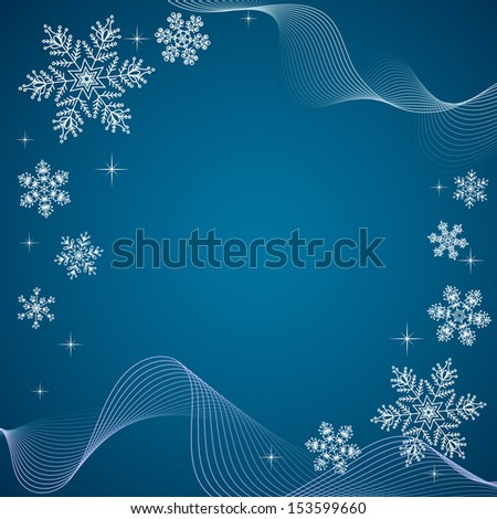 Snowflakes banner in vector. - stock vector