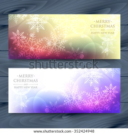 snowflakes banners