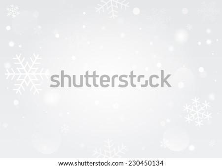 Snowflakes bokeh background. Vector EPS10. - stock vector