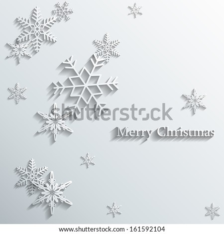 snowflakes card