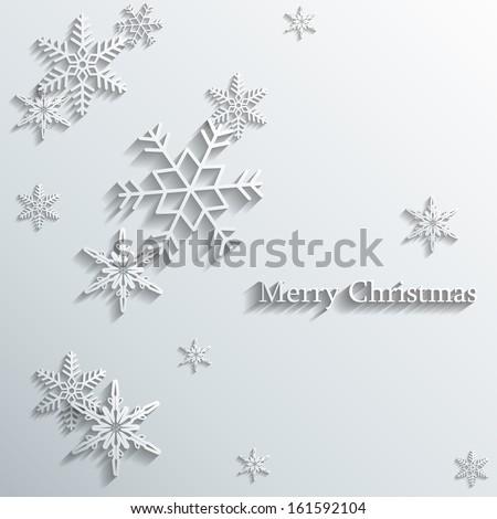 snowflakes card - stock vector