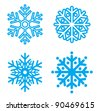 Snowflakes collection. Element for design. Vector  illustration - stock vector