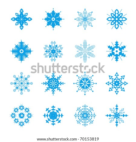 Snowflakes Collection. Vector Illustration. - stock vector