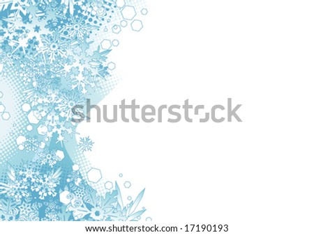 Snowflakes design - stock vector