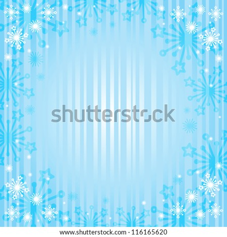 snowflakes on  blue background - stock vector