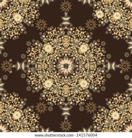 Snowflakes seamless  pattern - stock vector