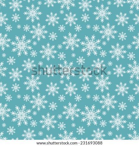 snowflakes seamless pattern - vector illustration. eps 8 - stock vector