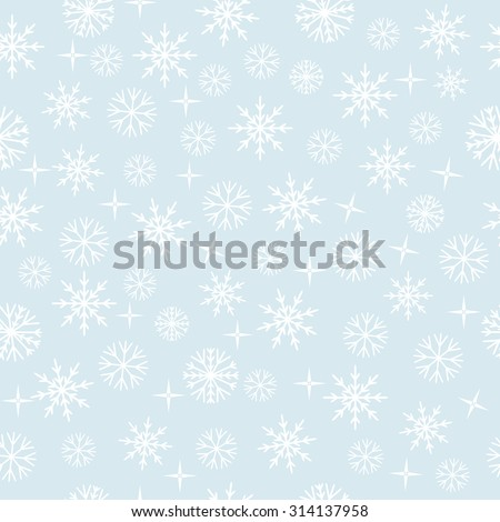 snowflakes seamless pattern. Vector illustration. EPS 8 - stock vector