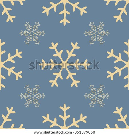 Snowflakes seamless pattern. Winter background. New Year background.