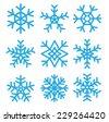Snowflakes set.vector illustrations - stock vector