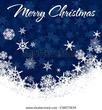 Snowflakes - Snowflake Christmas Card, Background - stock vector