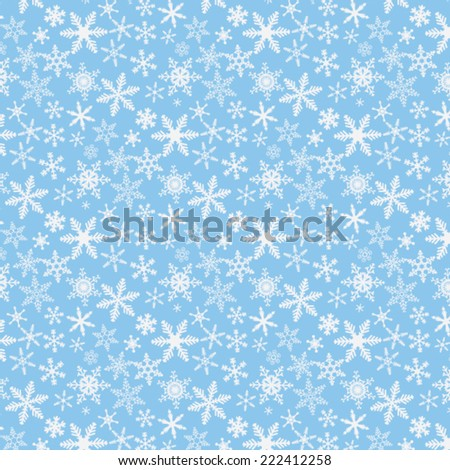 snowflakes vector pattern  - stock vector