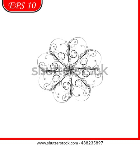 Snowfly icon. Simple black vector symbol. Logo for web. Image for business.