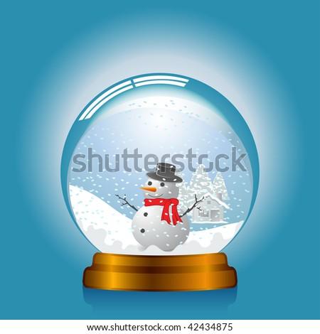 Snowglobe - stock vector