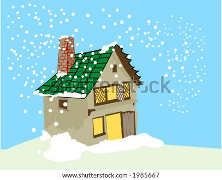 Snowing - Vector - stock vector