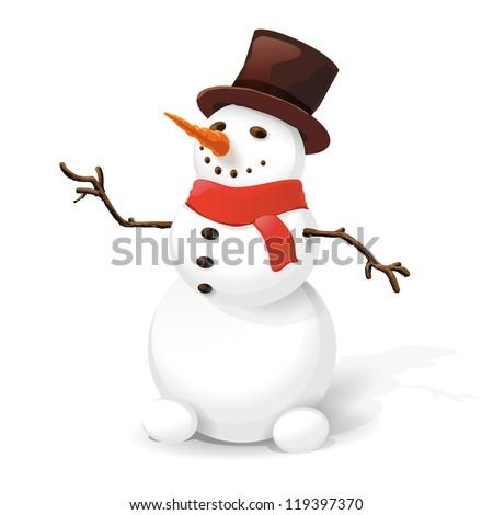 Snowman. - stock vector