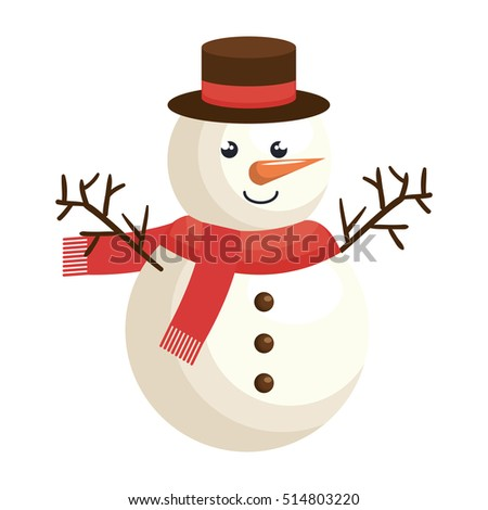 snowman character christmas celebration