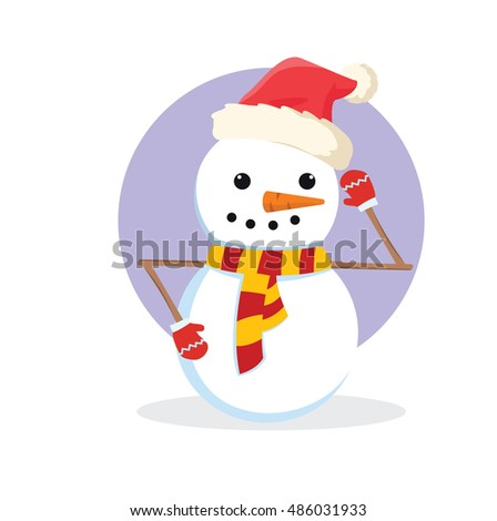 snowman christmas illustration design