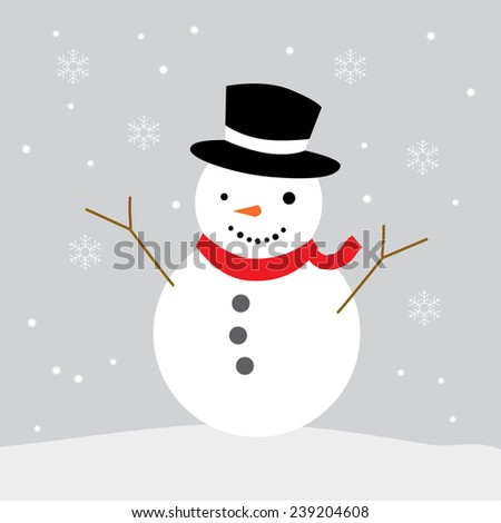 snowman drawing vector graphic illustrate eps10  - stock vector