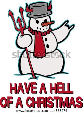 snowman hell - stock vector