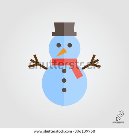Snowman icon - stock vector