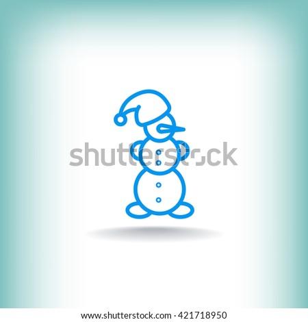 Snowman Icon. Snowman Icon Vector. Snowman Icon Art. Snowman Icon eps. Snowman Icon Image. Snowman Icon logo. Snowman Icon Sign. SnowmanIcon Flat. Snowman Icon design. Snowman icon app. - stock vector