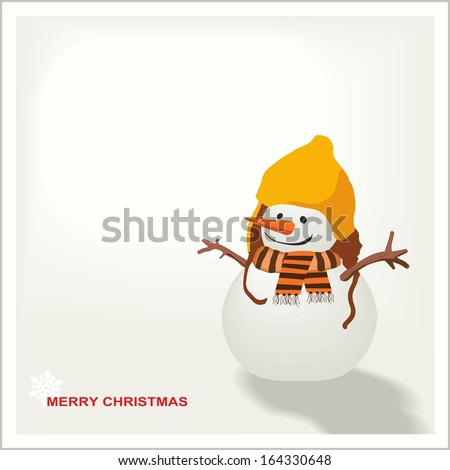 snowman message board - stock vector