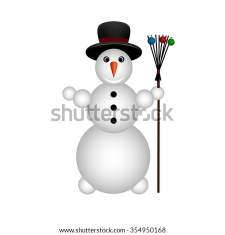 snowman on white background