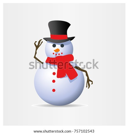Snowman on white background.vector