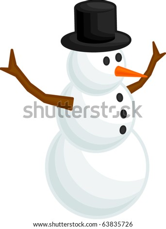 snowman with branches arms