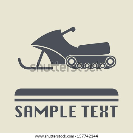 Snowmobile icon or sign, vector illustration - stock vector
