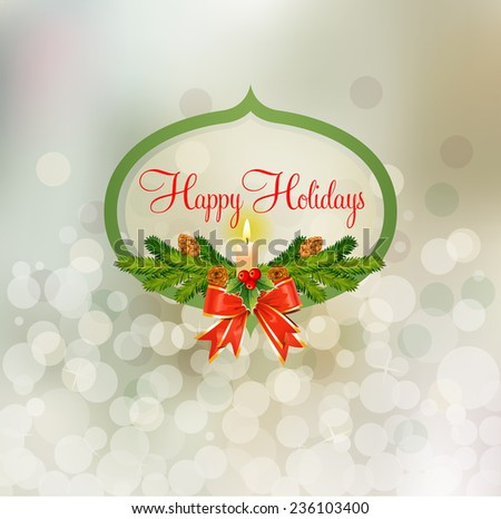 Snowy Mix for Happy Holidays - stock vector