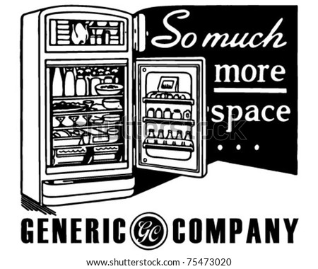 So Much More Space - Retro Ad Art Banner - stock vector