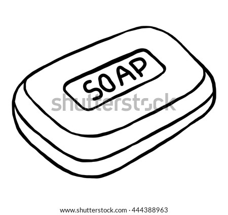 Soap Cartoon Vector Illustration Black White Stock Vector ...