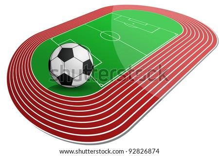 Soccer Arena - stock vector