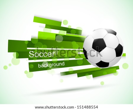 Soccer background - stock vector