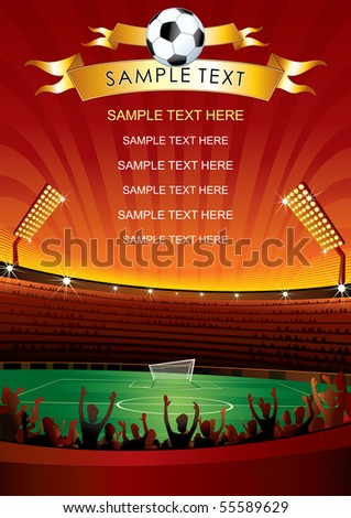 Soccer background for your design - stock vector