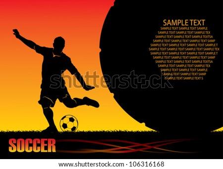 Soccer background - vector illustration - stock vector