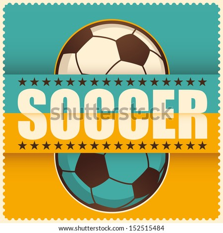 Soccer background. Vector illustration. - stock vector